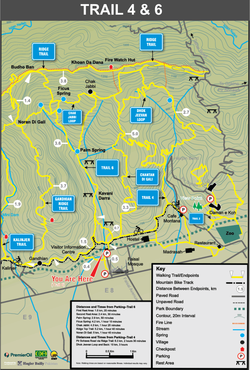 Guide Map Trail 4 & 6